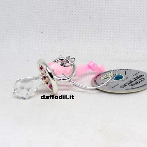 Bomboniera Crystal Temptations ciuccio rosa