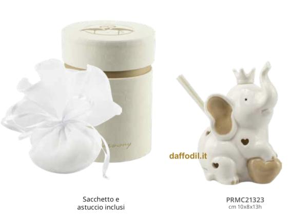 Harmony Elefante profumatore ceramica