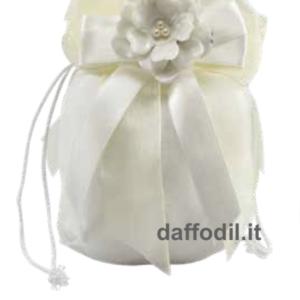 Harmony Juta bianco fiore porcellana