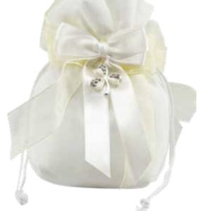 Harmony Juta bianco pendente trifoglio