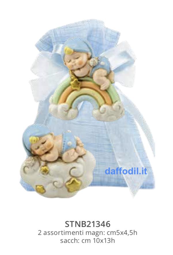 Harmony sacchetto Magnete Nuvoletta e Arcobaleno Boy