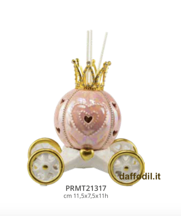 Harmony profumatore led carrozza piccola rosa