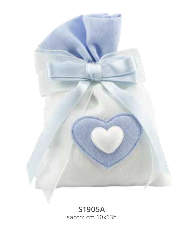 Harmony sacchetto bicolore Boy con gessetto cuore