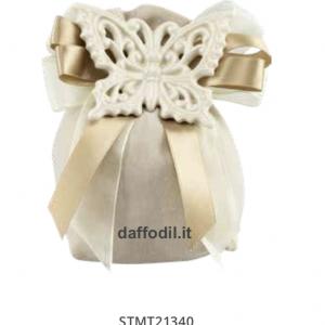 Harmony Sacchetto magnete farfalla Crema