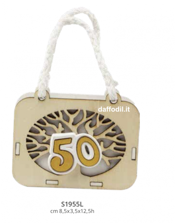 Harmony Scatolina Valigia in legno Albero Vita nozze Oro