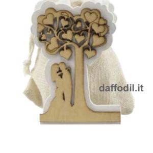 Harmony Portasacchetto in legno Sposi Albero Vita