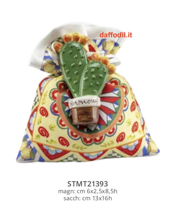 Harmony Magnete Fico D'India sacchetto maiolica