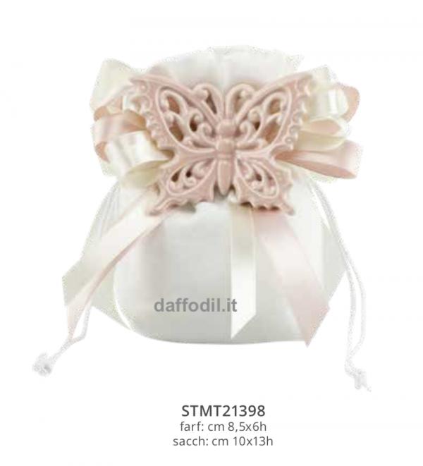 Harmony Sacchetto magnete farfalla rosa